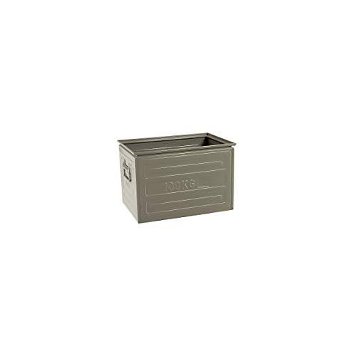 Certeo Stahlblech-Kiste | HxBxT 20 x 40 x 60 cm | Tragkraft 63 kg | Lagerboxen Stapelboxen Stapelkisten Metallkiste Metallbox Metallbehälter