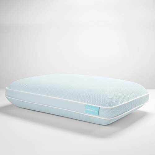Tempur-Pedic TEMPUR-Cloud + Cooling ProHi Pillow, Memory Foam, Queen, White