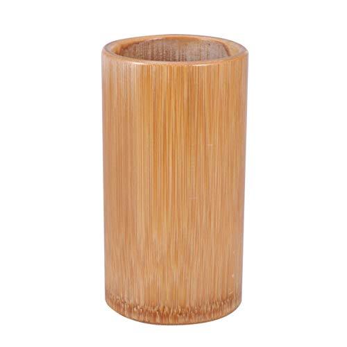 TOPBATHY Porta Utensilios de Cocina Caddy Bambú Utensilios de Cocina Porta Palillos Barril de Almacenamiento Cuchara Tenedor Tenedor Cubiertos Contenedor de Almacenamiento Organizador 15 Cm