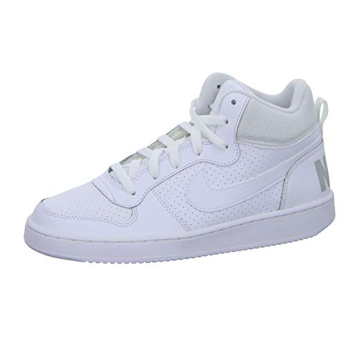 Nike Court Borough Mid, Zapatillas de Baloncesto, Blanco, 35.5 EU