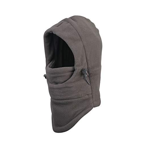 帽子 KAKOO ネックウォーマー キッズ フェイスマスク帽子 ネックウォーマー帽 目出し帽 バラクラバ ネックウォーマーキャップ アウトドア 子供用 スキー 暖かい 冬 防寒 防風(グレー)