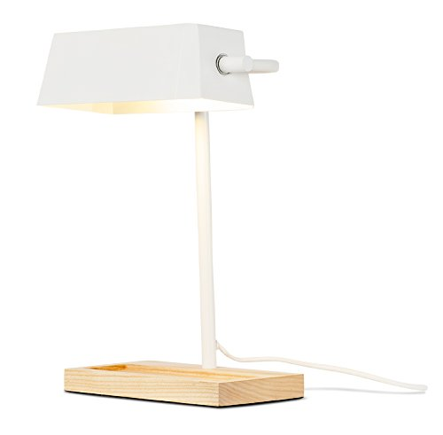 It's about RoMi CAMBRIDGE/T/W Lampe à poser, Fer, E27, 40 W, Blanc