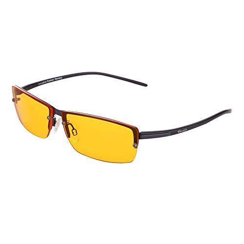 PRiSMA P1 LiTE95 Blaulichtfilter-Brille - augenschonende Bildschirmarbeit bei Tag und Nacht - bluelightprotect - P1-704