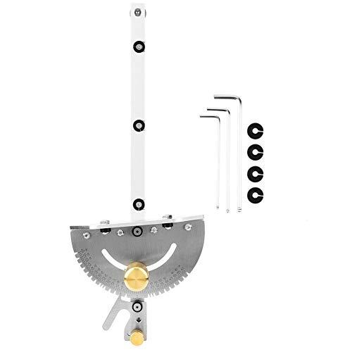 Gehrungslehre, hochpräzises Tischkreissägewerkzeug mit 3 Schraubenschlüsseln für Tischkreissäge, Bandsäge, Frästisch, Scheibenschleifer, Bandschleifer