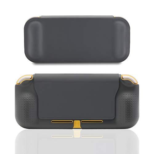 Flip Cover Case for Nintendo Switch Lite, Case for Nintendo Switch Lite with Grip - Gray