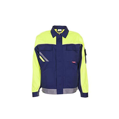 Planam 2413068 Visline V1-Chaqueta de Trabajo (Talla 68), Color, azul marino/amarillo/zinc, 64