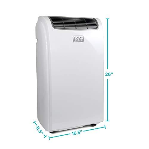 BLACK+DECKER BPACT10WT Portable Air Conditioner, 5,500 BTU DOE (10,000 BTU Ashrae), White