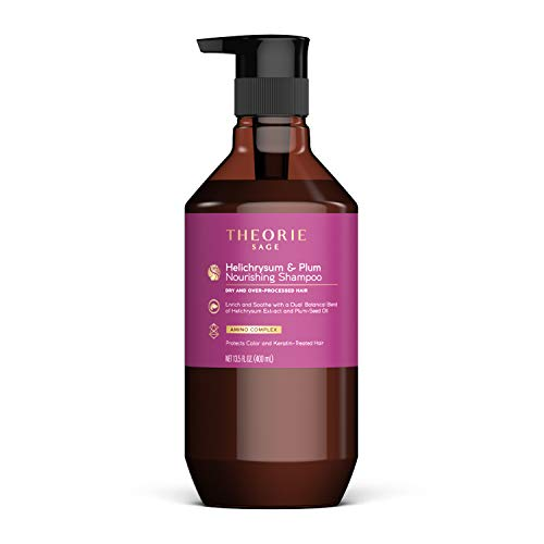 Theorie: Sage - Helichrysum & Plum - Nourishing Shampoo - For Dry & Over-Processed Hair - Protects Color & Keratin Treated Hair, 400ml (Label Design May Vary)