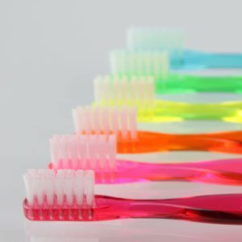 クロール雲汚れたサムフレンド 歯ブラシ #20(ミニ) 6本 ※お色は当店お任せです