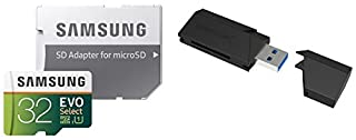 32GB EVO Select Memory Card and Sabrent SuperSpeed 2-Slot USB 3.0 Flash Memory Card Reader (B072LWWS91) | Amazon price tracker / tracking, Amazon price history charts, Amazon price watches, Amazon price drop alerts