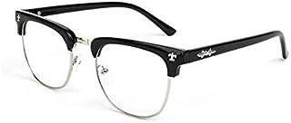 Unisex Retro Half Frame Eyewear Eyeglasses Round Optical Fashion Lens