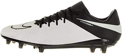 Nike Herren Hypervenom Phinish LTHR FG Fußballschuhe, Weiß Schwarz helles Elfenbein, 38.5 EU