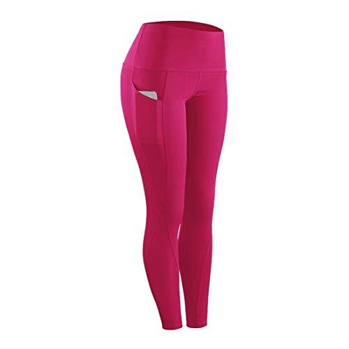 Leggings de cintura alta, mallas para correr mujer con bolsillos, pantalones de yoga elásticos deportivos mallas deportivas con cintura, mallas no transparentes para gimnasio, entrenamiento, correr