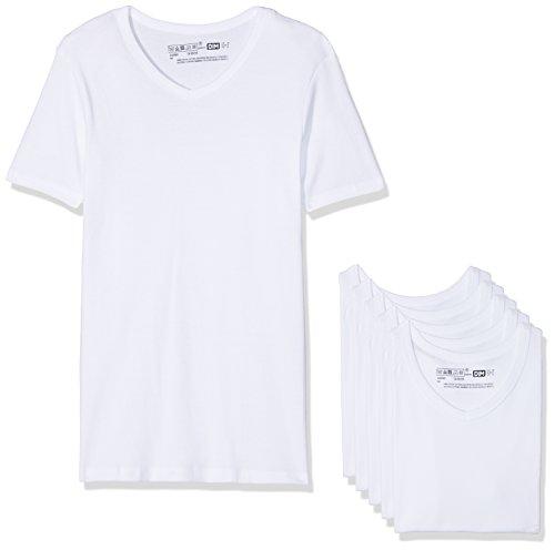 Dim Ecodim T Shirt col V X6 Eco Lot de 6, Blanc (Blanc 0hy), XX-Large (Taille Fabricant: XXL) Homme