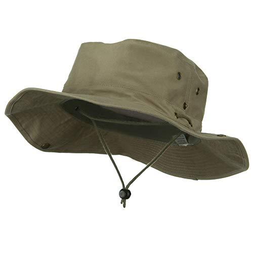 Extra Big Size Brushed Twill Aussie Hats -Khaki XL-2XL