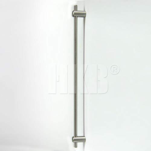 1 Stück Schubladen- Schranktürgriff, Stangengriff, elegantes Design, INOX Edelstahl massiv, Schrauben, Breite = 392mm, Lochmaß variabel, justierbar, Höhe = 36mm, hochwertig, Art.-Nr. 8066-38