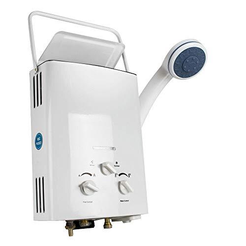 GFYL 6L Durchlauferhitzer, Home Schnellheizer Tragbarer Flüssiggas-Warmwasserbereiter Instant Boiler Outdoor - mit Duschkopf-Kit Wand-Warmwasserbereiter