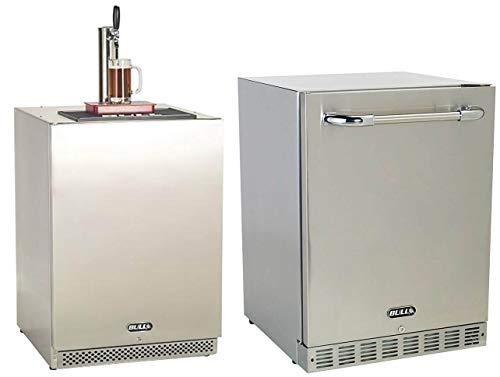 Bull Outdoor Tap Full-Size Beer Kegerator & Outdoor Rated Refrigerator Fridge