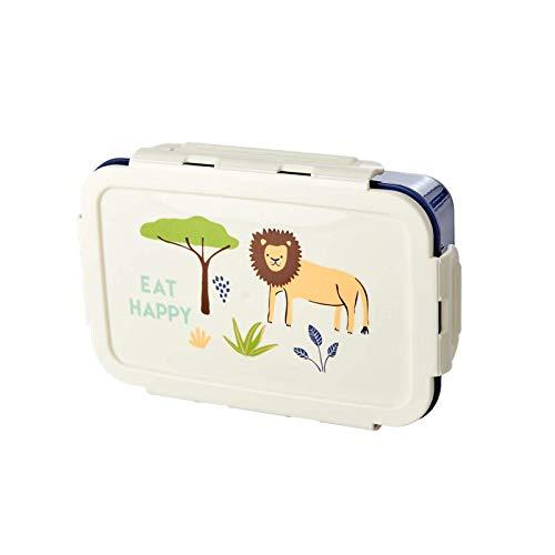 Lunchbox/Brotdose mit herausnehmbaren Einlagefächern, Muster Jungle Animal Print, verschiedene Far Farbe Blue Jungle Print