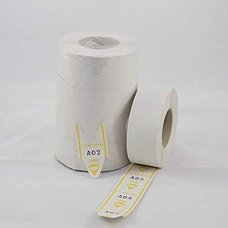 20000 TICKET 10 Rotoli Numeri Eliminacode 10 rotoli 2000 Etichette Elimina code