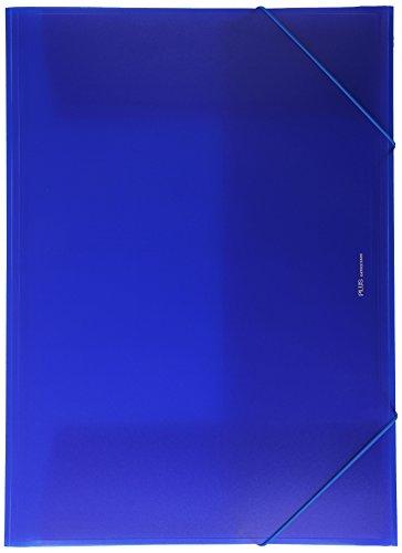 Plus Office B186-BL - Carpeta con solapas, A3, azul