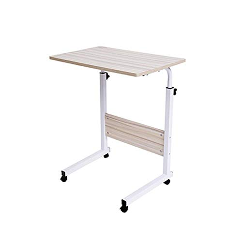 FGDSA Adjustable Lap Table Mobile Laptop Computer Stand Bedside Table Portable Side Table for Bed Sofa