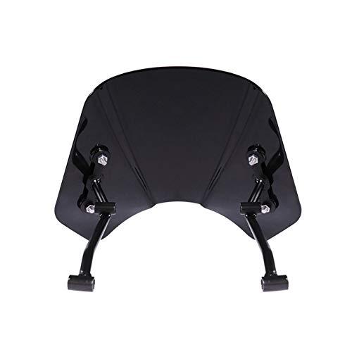 ACYY Protector de parabrisas para motocicleta, motocicleta, deflector de viento, para parabrisas Benelli Leoncino 500 (color: negro)
