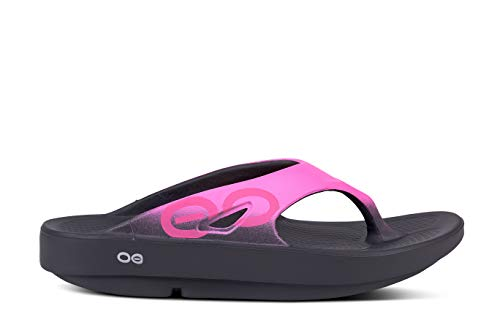 OOFOS - Unisex Ooriginal Sport - Post Exercise Active Sport Recovery Thong Sandal - Pink - M12/W14