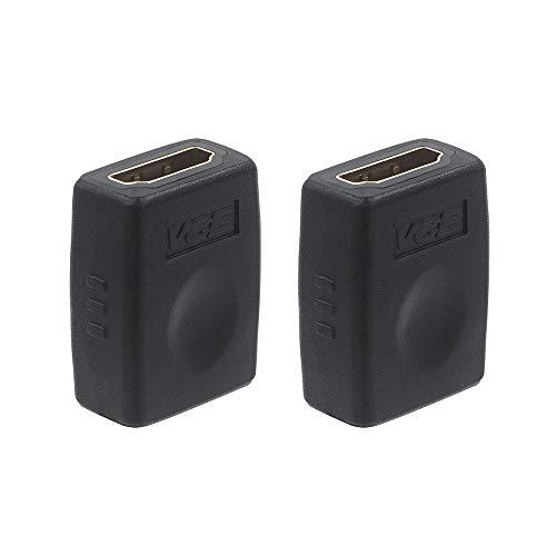 VCE Acoplador de Cable HDMI hembra a hembra Adaptador de empalme de cable HDMI 3D&4K 2 Unidades