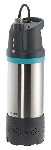 GARDENA Tauch-Druckpumpe 5900/4 inox automatic: Automatische Tauchdruckpumpe mit 5900 l/h Fördermenge, mit Schmutzfilter, geräuscharmer Betrieb, integrierte Trockenlaufsicherung (1771-20)