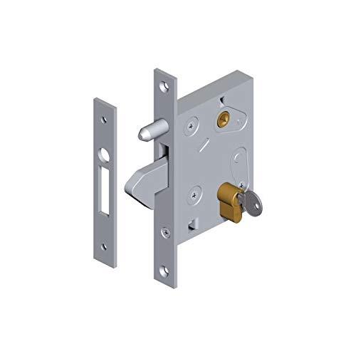 BAUER - Hakenschloss mit Zylinder 27/27 und Schlüssel | Schiebetor, Hoftor, Tor, Einfahrt