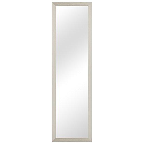 Multistore 2002 Garderobenspiegel Wandspiegel Frisierspiegel Flurspiegel Barspiegel 36,5x124,5cm - Weiss