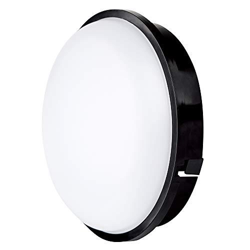 Buitenverlichting van Muren 20W LED Buitenlamp, 3000K, 1600lm, IP65-Beschermde Waterdichte Wandlamp, Rond, Zwart