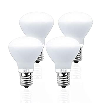Lustaled R14 Reflector E17 LED Light Bulbs 4 Watts E17 Intermediate Base LED R14/R39 Mini Reflector Spot Lights Daylight 6000K 40W Incandescent Replacement for Closets Recessed Desk Lamps  4-Pack