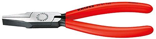 KNIPEX 20 01 140 Alicate de boca plana negro atramentado recubiertos de plástico 140 mm