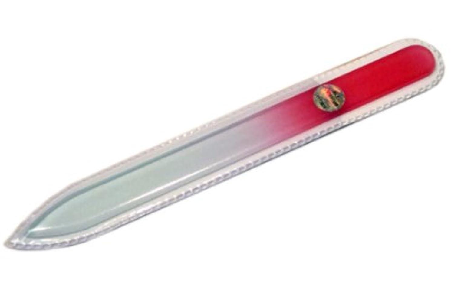 生態学薄いエレクトロニックブラジェク ガラス爪やすり 140mm 片面タイプ(ピンクグラデーション #07)