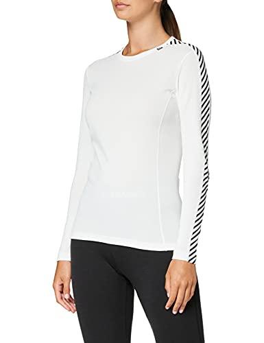 Helly Hansen W HH LIFA Crew Camiseta Manga Larga, Mujer, White, M