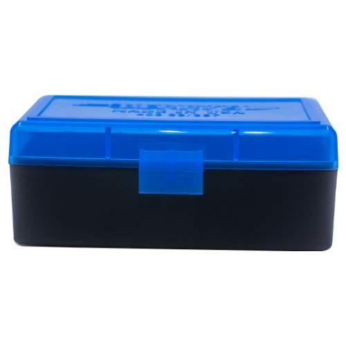 BERRY S Plastic Ammo Box, Blue Black 50 Round 38 357 (1)