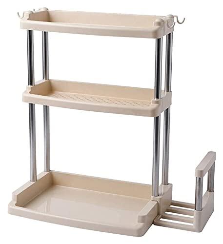 Estante para especias con 3 capas antideslizantes para especias en el armario, armarios, especias y hierbas, cocina y baño