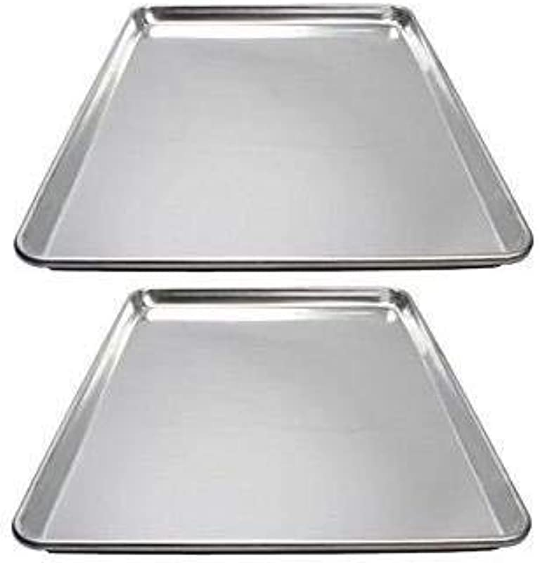 Winware ALXP 1318 Commercial Half Size Sheet Pans Set Of 2 13 Inch X 18 Inch Aluminum