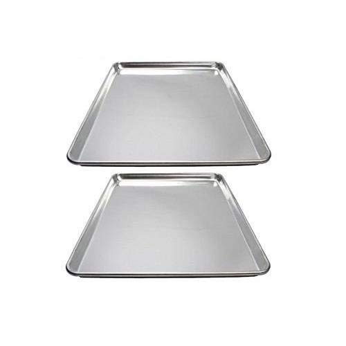 Winware ALXP-1318 Commercial Half-Size Sheet Pans, Set of 2 (13-Inch x 18-Inch, Aluminum)