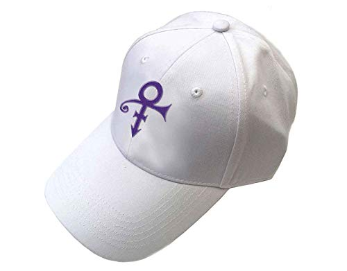Rocks-off Prince Baseball Cap Purple Symbol Nue offiziell Weiß Unisex