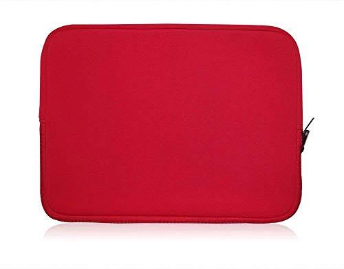 Sweet Tech Rot Neopren Hülle Tasche Sleeve Hülle Cover geeignet für ODYS Trendbook Next 14 HD Notebook 14 Zoll (13-14 Zoll Laptop)