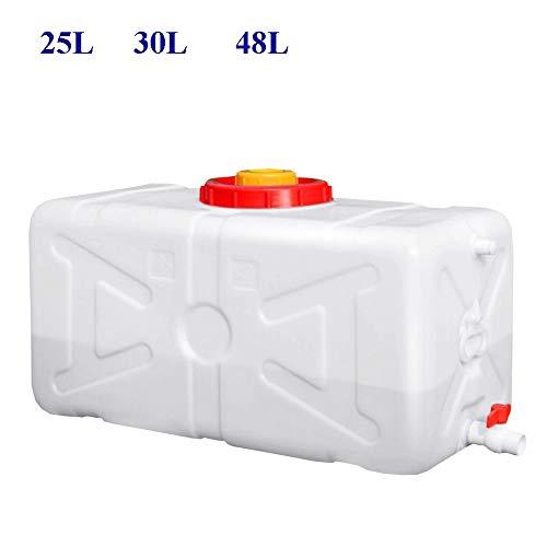 Guoda Wasserkanister  PE-Material In Lebensmittelqualität   Mit Wasserhahn   Tragbar   Hochtemperaturbeständigkeit   Weiß (Size : 25L)