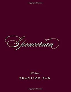 Spencerian 52° Slant Practice Pad: Calligraphy Exercise Writing Paper - Slant Angle Lined Guide Practice Sheets