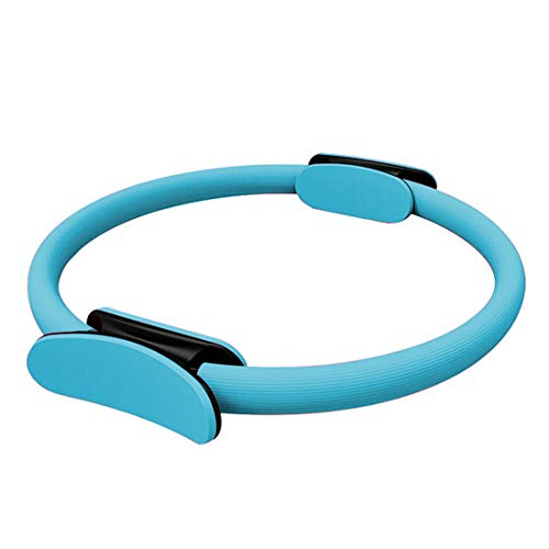 """FBSPORT 14""""Pilates Fitness Pilates Ring Magic Circle Doppelgriff-Widerstandsring für Flexibilität, Kerntraining, Physiotherapie und straffende Oberschenkel, Bauchmuskeln und Beine -Blau"""