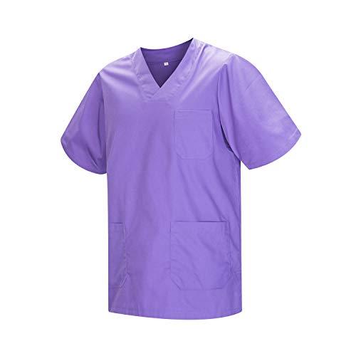 MISEMIYA - Casaca Unisex MÉDICO Enfermera Uniforme Limpieza Laboral ESTÉTICA Dentista Veterinaria Sanitario HOSTELERÍA - Ref.817 - M, Lila