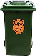 Kliko Sticker/Vuilnisbak Sticker - Nummer 57-17 x 22 - Oranje