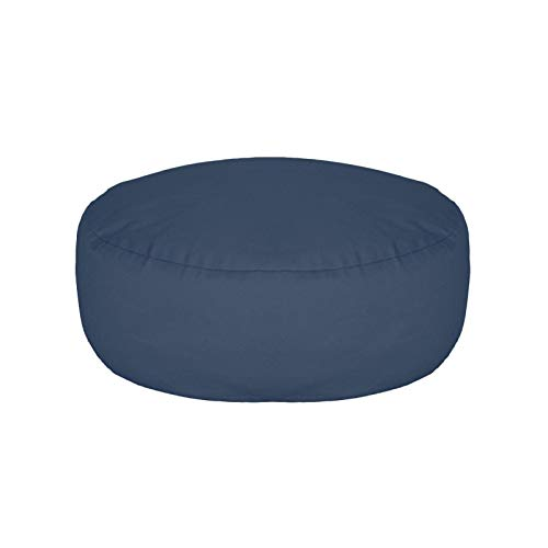 Rubyu-123 Cojín de yoga redondo de algodón con funda de 100 algodón, diámetro de 33 cm, altura de 12 cm, lavable, relleno de espelta