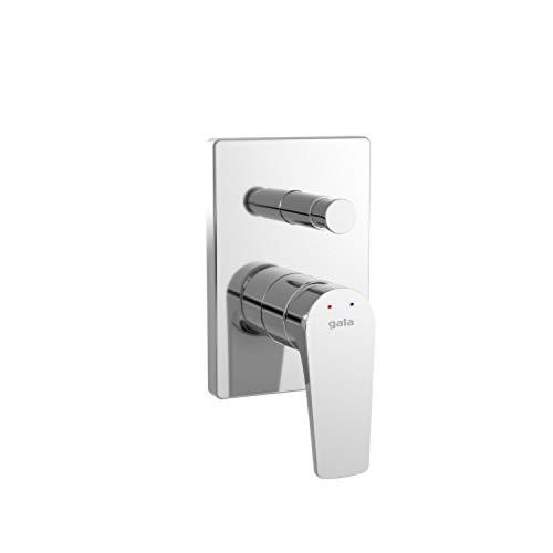 Grifo monomando empotrado para ducha, con dos salidas, colección Lora, 15 x 10 x 9,7 centímetros, acabado metálico (referencia: 3997800)
